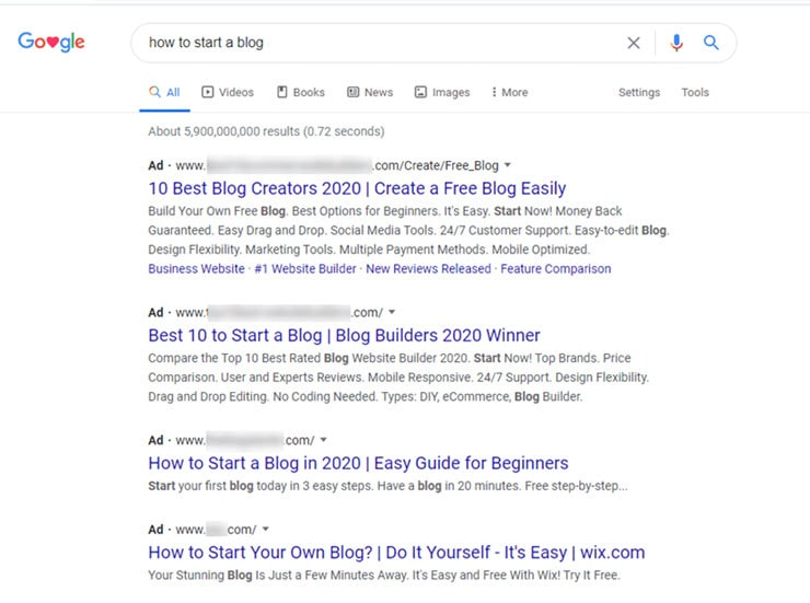 Start Blog - Google Ads Image